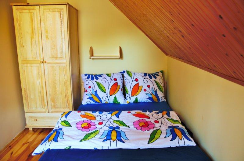 domki kaszuby sypialnia